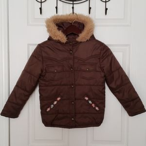 Gymboree | Puffer Coat with Hood | Brown | Size 8